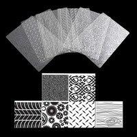6 шт. текстуру листа комплект шин Текстура коврик торт формы для Сахар ремесло украшения печенья кекс помадка выпечки инструменты