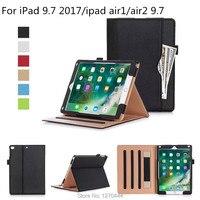 กรณีสำหรับiPad 9.7 2017รุ่นใหม่A1822,ธุรกิจพลิกขาตั้งซองสำหรับiPad5/iPad 6/iPadอากาศ2แท็บ