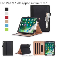 For IPad 9 7 2017 New Model A1822 Flip Stand PU Leather Case Thr Fold Cover