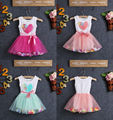 Hot Sell Baby Toddler Girls Kids Princess Party Bow Love Flower Tulle Dress 2-4Y