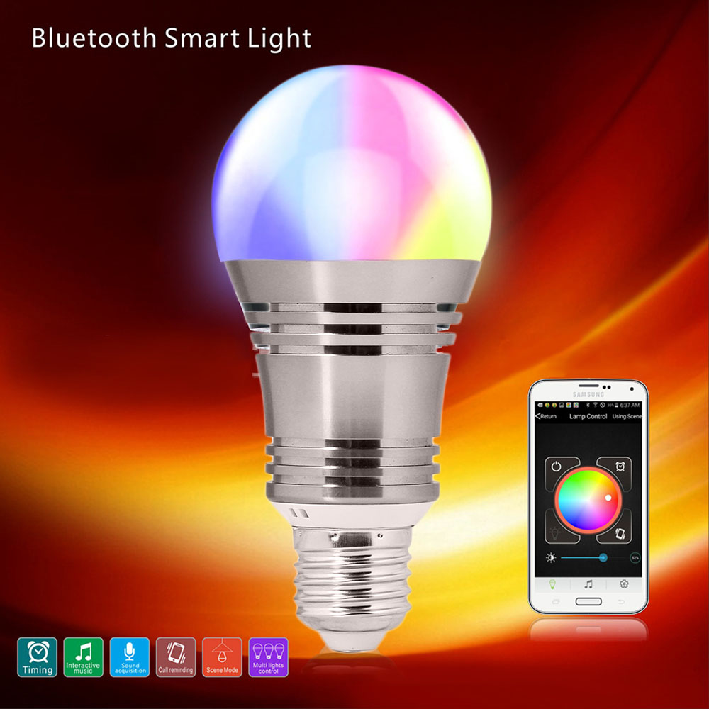 Colorful Intelligent Bulb Bluetooth Led Speaker Bulb Music Playing Top Of