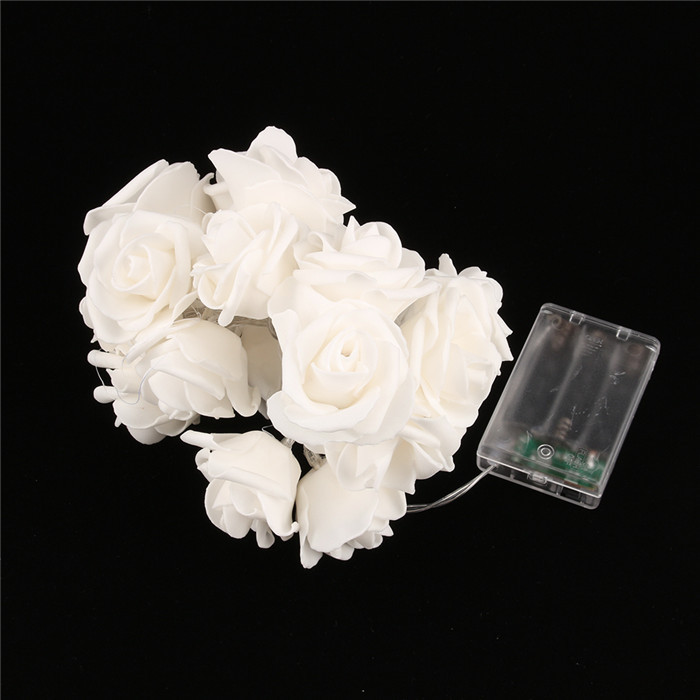 20 LED Rose Flower String Lights Up Toy Wedding Garden Party Christmas Gift