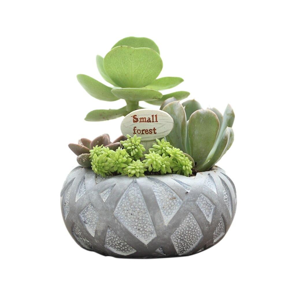 Roogo Mini Bird Net Shape Flower Planter Pot Home Office Decor ...