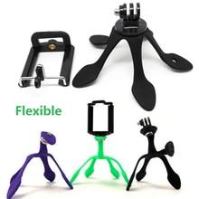 GekkoPod Portable Flexible Holder Mini Tripod Mount for iPhone GoPro hero 5/4 xiaomi yi Sj4000 SJCAM SJ5000+ HDR-As200V HX1000