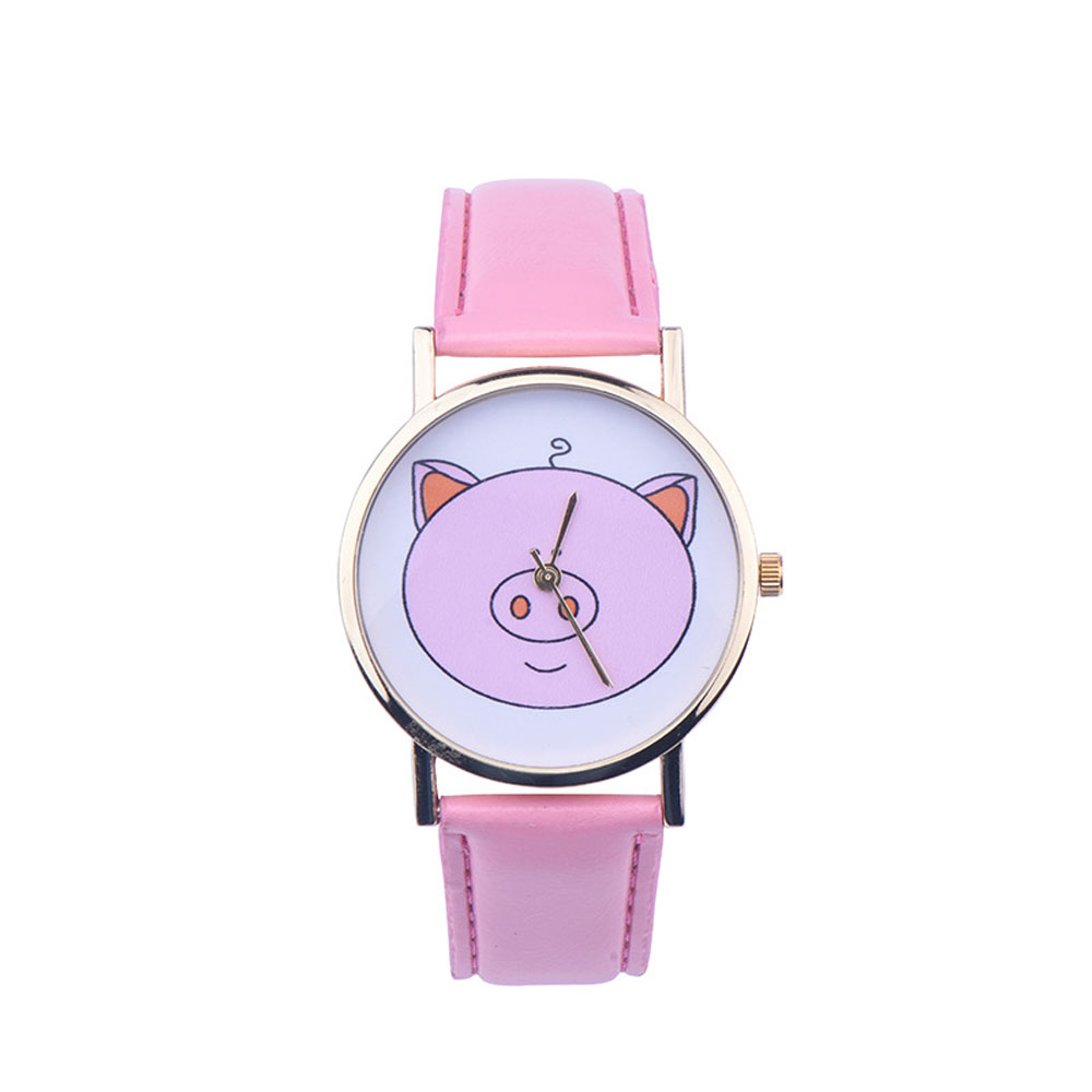 Creative Fashion Boy Girl Watch, 2016 Kids Cute Pig Printed Watches Faux Leather Men Analog Watch Student Relogio Free Shipping creative fashion boy girl watch 2016 kids cute pig printed watches faux leather men analog watch student relogio free shipping