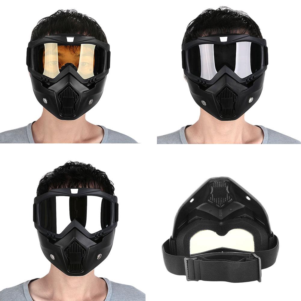 Съемный модульный мотоциклетный шлем для езды на мотоцикле маска с фильтром для лица