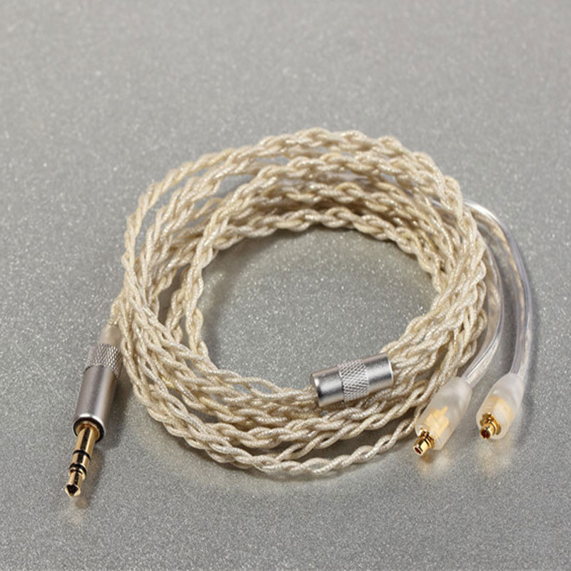 ФОТО High Quality 8-core Single Crystal Copper Silvered Cable Earphone Upgrade Cable Lines For Shure SE535 SE425 SE215 SE846 UE900