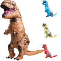 Adult Halloween Cosplay T REX Inflatable Dinosaur Costume Dino Jumpsuit Fancy Dress Halloween Costume For Women