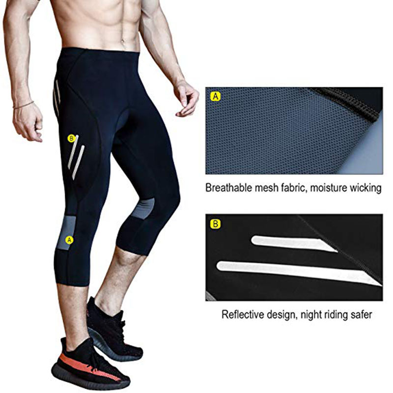 Mens Bicycle Pants 4D Padded Long Cycling Tights Leggings Outdoor Cyclist Riding Bike Wear