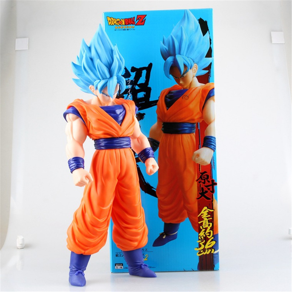 Huge Measurement 42CM Anime Dragon Ball Z Son GOKU GOHAN Vegeta Tremendous Saiyan Motion Figures PVC Restrict Boxed Collectible&Reward Toys 0404