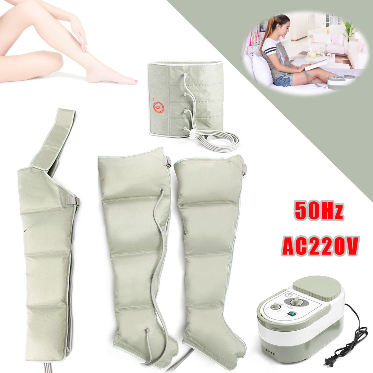 EMS Electric Air Circle Compression Massager Circulation Pressure Massage Leg arm Cuff elderly pneumatic air pressure