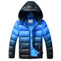 Kids Winter Jacket for Boys Down Jackets Coats Warm Thick Cotton Wadded Jacket Gradient Color Big Boys Parka Jacket DQ168