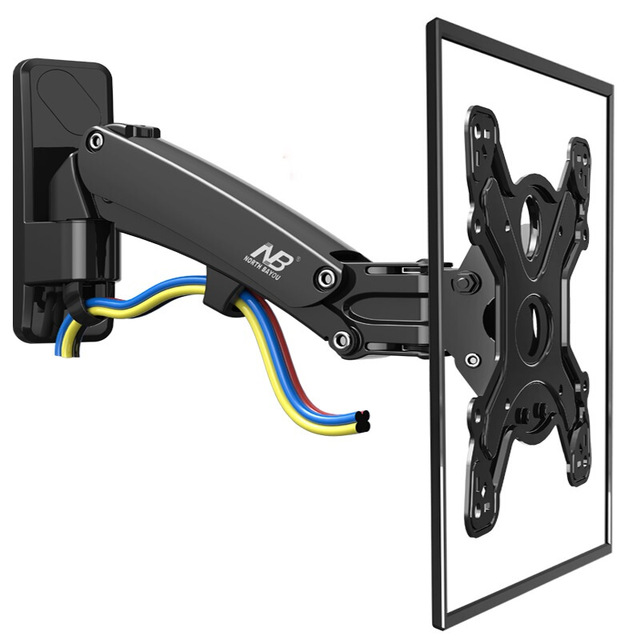Nb F350 Tv Wall Mount Swivel 40 50 Inch Monitor Arm Holder Gas Spring Free