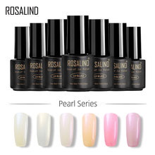 ROSALIND Gel 1 S 7 ml Pearl UV Gel Nail Polish Warna Murni UV Rendam Off Led Nail Art Profesional Semi Permanen Beruntung Gel Lacquer(China)