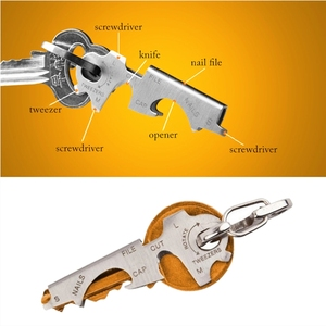 8 In 1 Multi Tools EDC Stainless Steel Multi-function Pocket Tool Keychain Outdoor Survival Gear