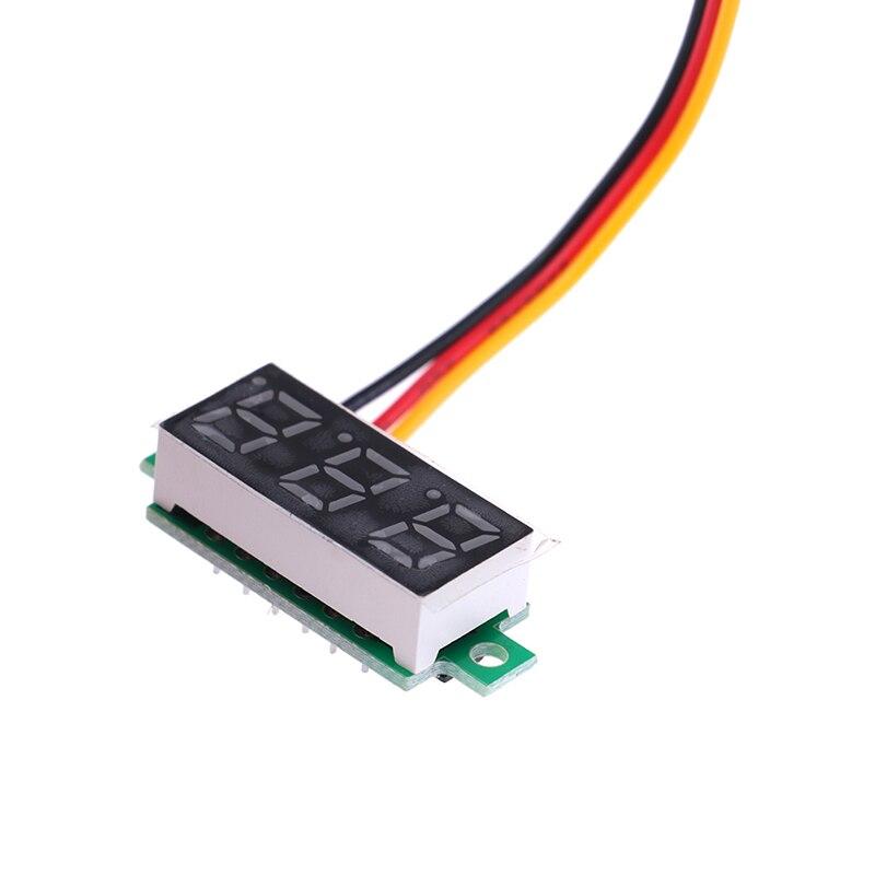 Mini voltímetro Digital con pantalla LED de 0,28 pulgadas, medidor de voltaje, accesorios electrónicos, voltímetro Digital, 0-100V