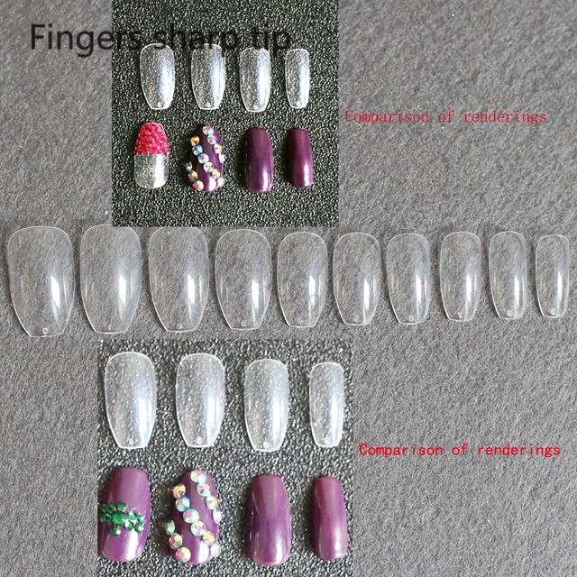 Aliexpress.com : Buy 600pcs coffin Nail Tips Nail Art Tips Long ...