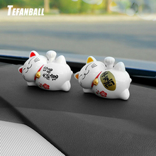 Car Ornament ABS Cute Lucky Cat Solar Energy Shake Hand Creative Lazy Auto Interior Decorations Ornaments Home Decor Gifts