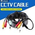 15 m los 49ft cable rca cctv cctv cámara de seguridad video audio cable de alimentación av para la cámara de vigilancia sistema dvr