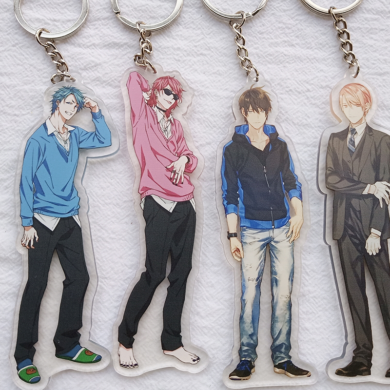 1pcs 12cm Factory Price!Yaoi Fan BL Love Ogeretsu Tanaka BITCH-BO YARICHIN Ten Count  Doubleside Keyrings Pendant Car Key Holder