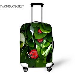 Twoheartsgirl свежий зеленый 3D принты эластичный Чемодан защитный чехол стрейч дело тележки Пылезащитный чехол Туристические товары красочные