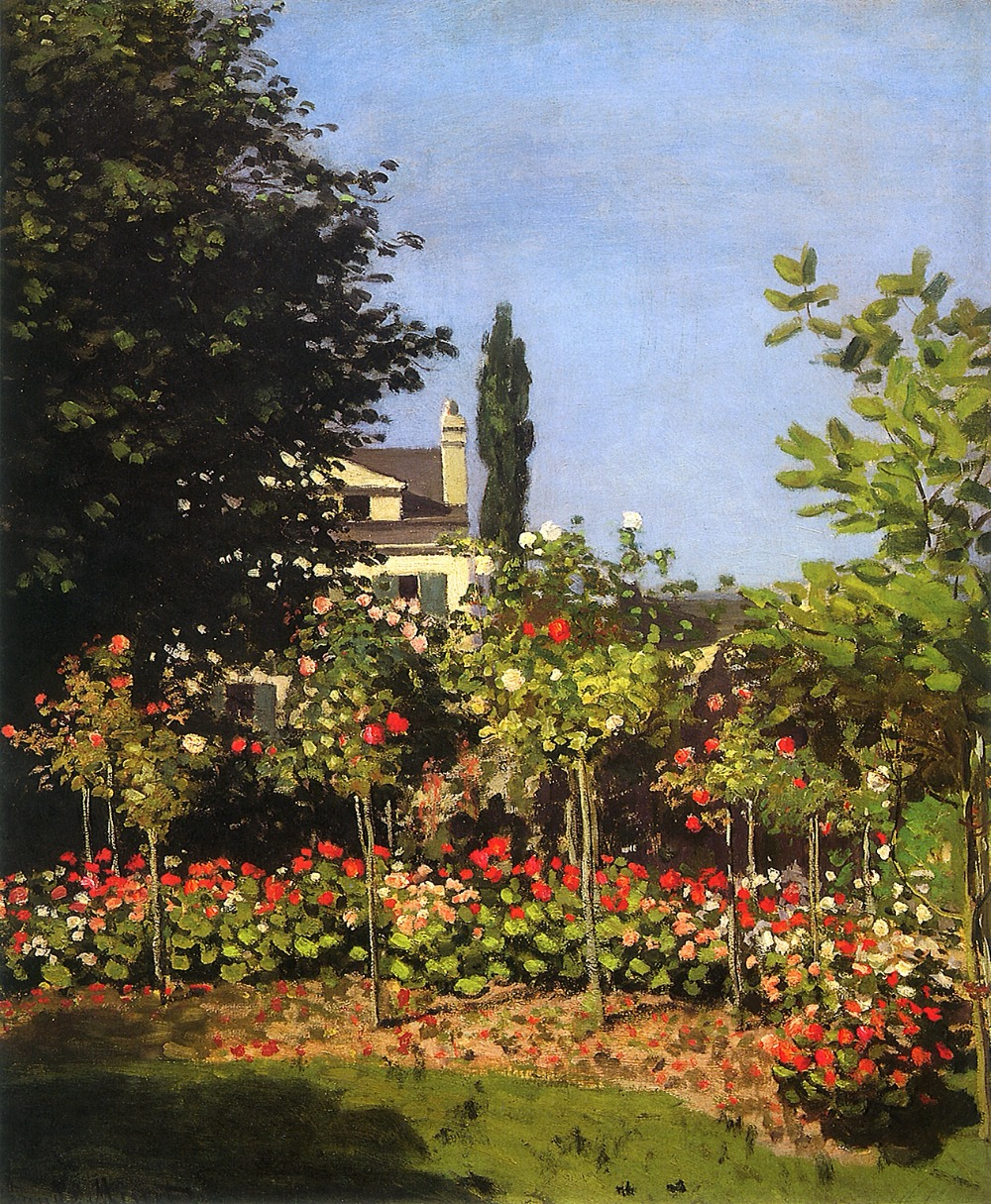 100% handmade landscape oil painting reproduction on linen canvas,garden-in-bloom-at-sainte-add by claude monet,oil paintings100% handmade landscape oil painting reproduction on linen canvas,garden-in-bloom-at-sainte-add by claude monet,oil paintings