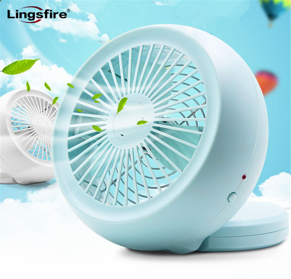 New 6 Inch Table Portable Fan Stylish Adjustable Desktop Mini Cooling Fan by Charger or Battery Powered USB Fan Home Office