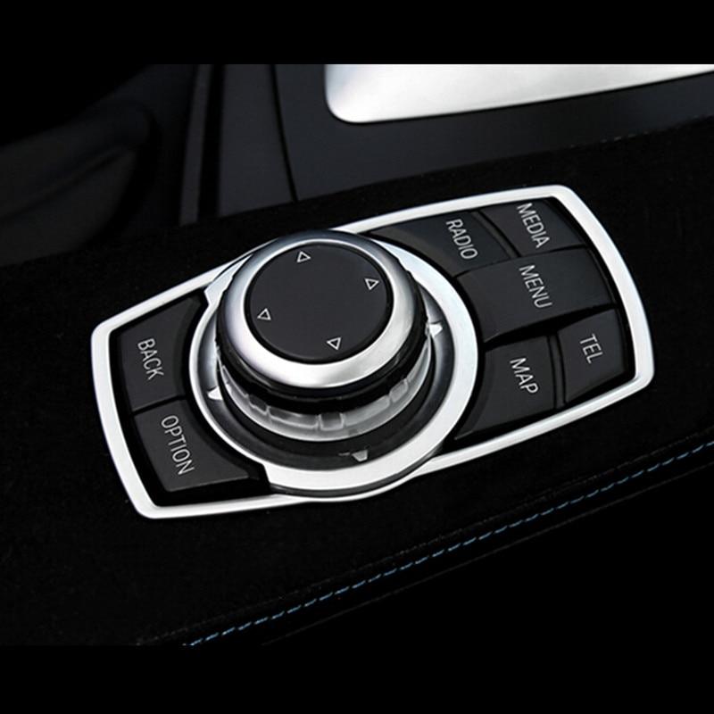 Nuevo Interior de Multimedia 7 Botones Funda Borde para BMW 3 4 5 6 X5 X6 Serie