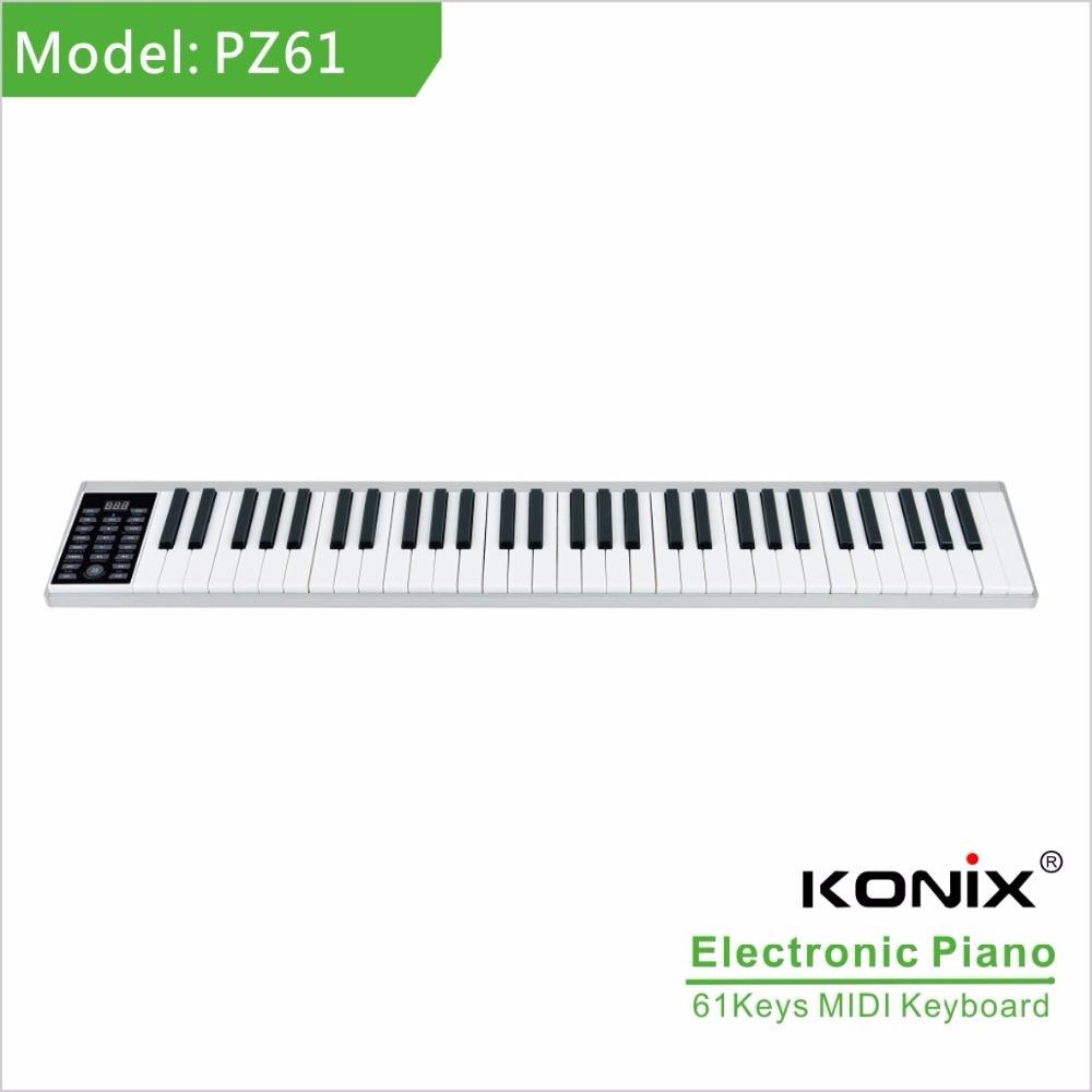 Kvaliteetne nutikas elektrooniline klaver 61 klahviga ja MIDI - Muusikariistad