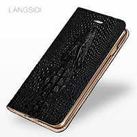 Caso magnético da aleta para samsung s20 ultra s8 s9 mais crocodilo couro genuíno livro telefone caso para samsung a30 a50 a70 a8 2018 a7
