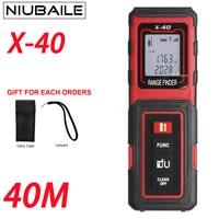 NIUBAILE X 40M Laser Rangefinders Tape Measuring Electronic Ruler Mini Handheld Laser Range Finder Color Display