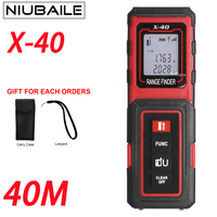 NIUBAILE 40M Laser Rangefinders Tape Measuring Electronic Ruler Handheld Laser Range finder Color Display Area/Volume X40 ZM R