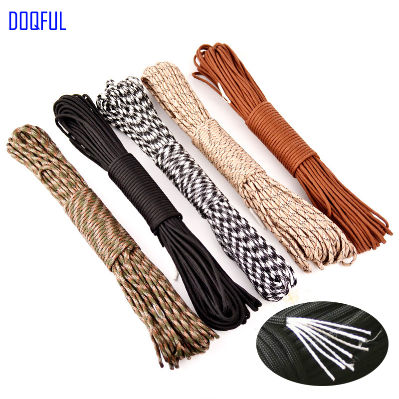 30pcs/lot Paracord 550 Umbrella Military Rope 7 Core 100FT 31m Climbing Camping Emergency Survival Paracord Parachute Cord oumily military army survival parachute rope black 30m 140kg 2 pcs