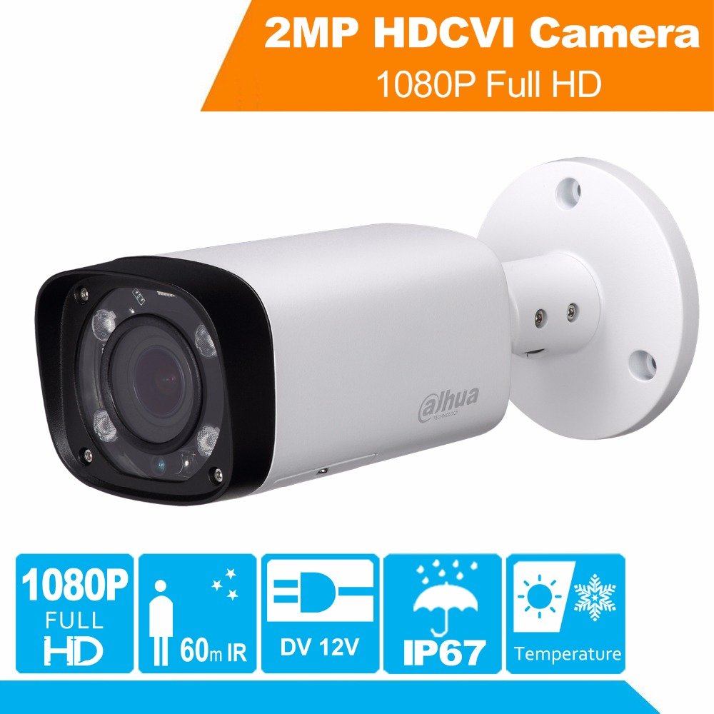 Full HD Security Camera HAC-HFW1220R-VF-IRE6 2MP IR Bullet CVI Camera 1080P Night Version CVI Camera Built-in SD & Vari-Focal ssop28 to dip28 b tssop28 enplas ic test socket programming adapter 0 65mm pitch
