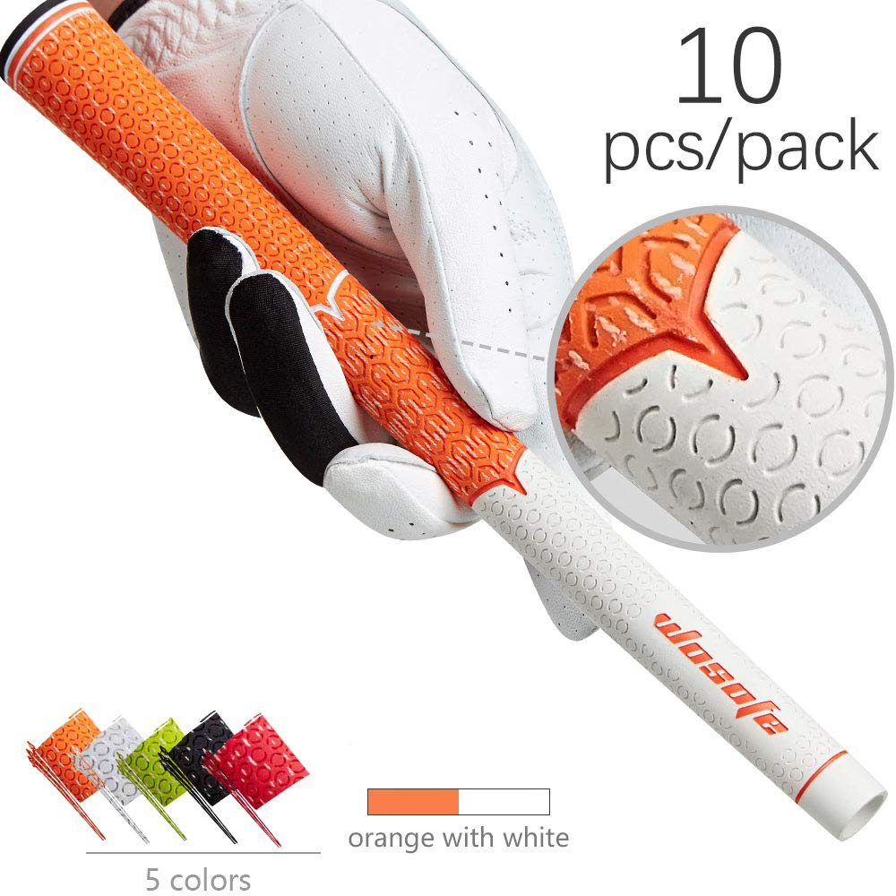 Golf grips irons clubs rubber cord  Non Slip durable 10pcs/lot golf accessories free shipping-in Club Grips from Sports & Entertainment
