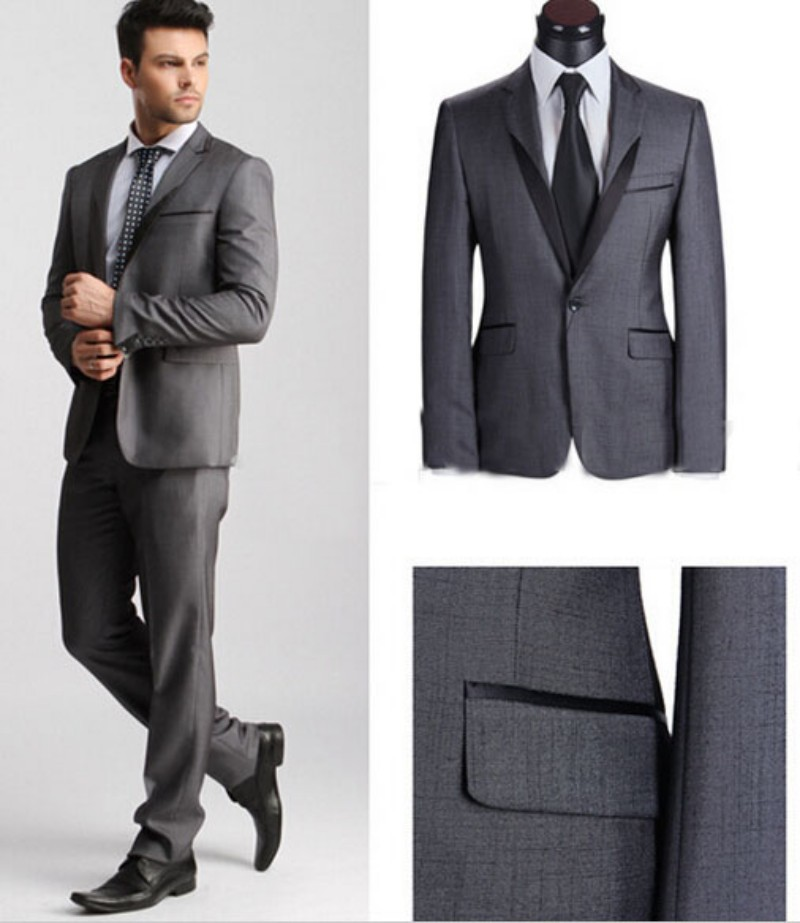 italian dark gray wedding suits men/wedding/party men suits ...