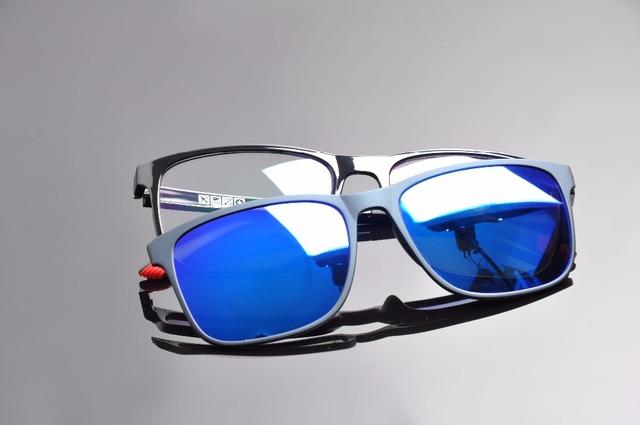DEDING 2016 Magnética Clipe Polarizada em Óculos De Sol com Lente Miopia Quadro Óptico s Anti Azul Proteção UV Óculos de Sol DD1410