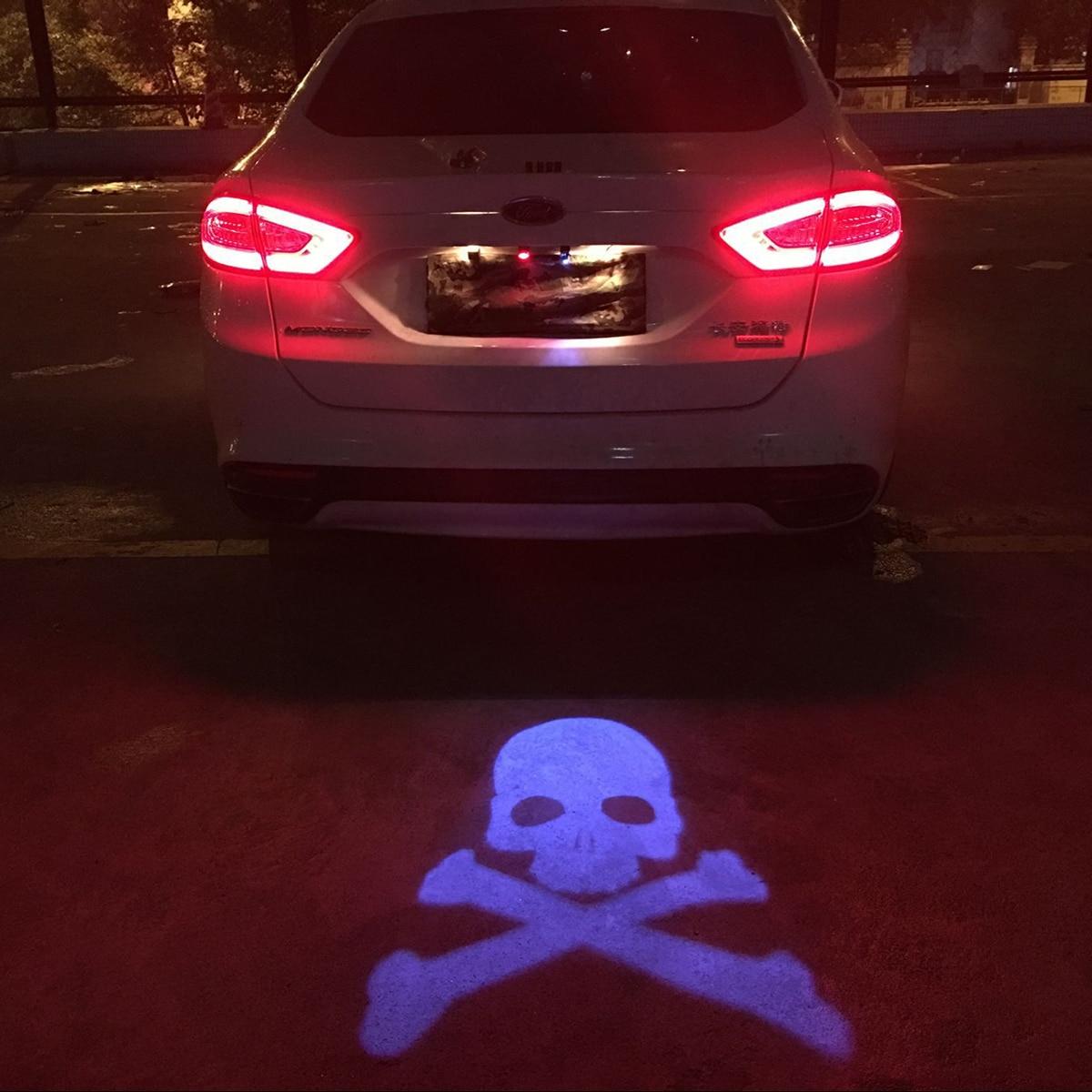 Car Laser Tail Led Light Anti Collision Rear-end Fog Lamp Rearing Warning for Nissan Tiida NV200 Pathfinder Qashqai Logo