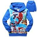 Детская одежда весна осень мальчики-паук толстовки дети с длинным рукавом футболка ребенка / детей куртки с капюшоном кофты 6 шт./лот