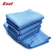 ФОТО east 2 pcs 60cm x 80cm microfiber waffle weave car cleaning sashes cloths detailing drying towels home cleaning cloth