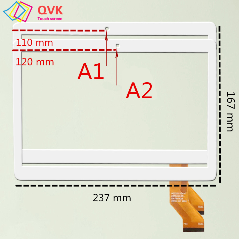 10..1 Inch For BOBARRY T100 MTK6797 / T900 MT8752 T-109 T109 Capacitive Touch Screen Panel Repair Replacement Spare Parts