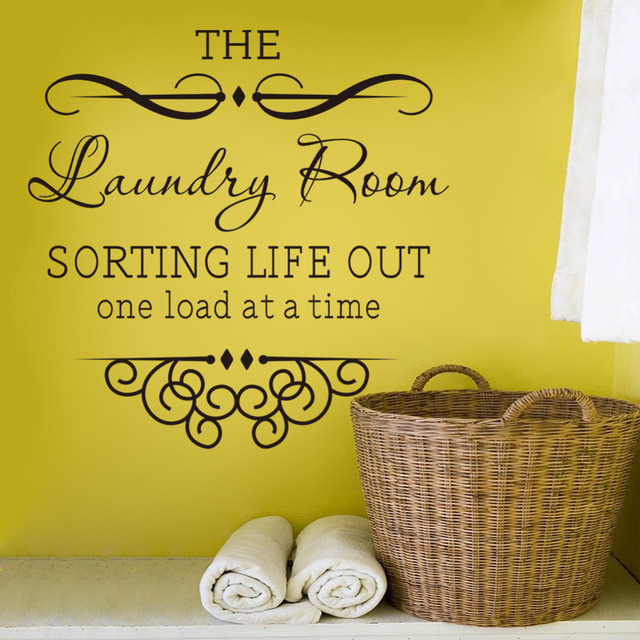 wall sticker quotes Bathroom Laundry room decoration home decor ...