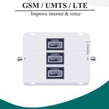 Lintratek ALC GSM 900 3G 2100 LTE 1800 wzmacniacz sygnału komórkowego wzmacniacz trójzakresowy wyświetlacz LCD telefon komórkowy 4G wzmacniacz S8