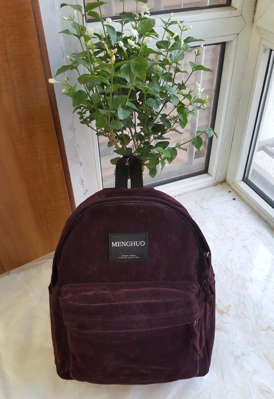backpack suede bag (1)