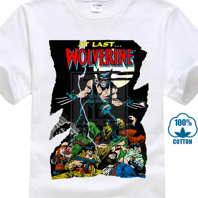 At Last Wolverine Movie Poster T Shirt White All Sizes S To 4Xl