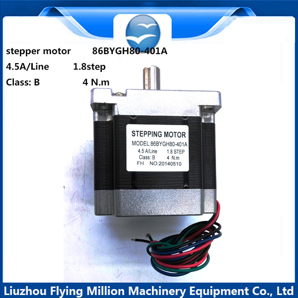 86 80 Stepper Motor Bipolar 4 Leads Torque 1.8 1605 scrow rod 4.5A 4N.m 42BYGH motor for CNC XYZ