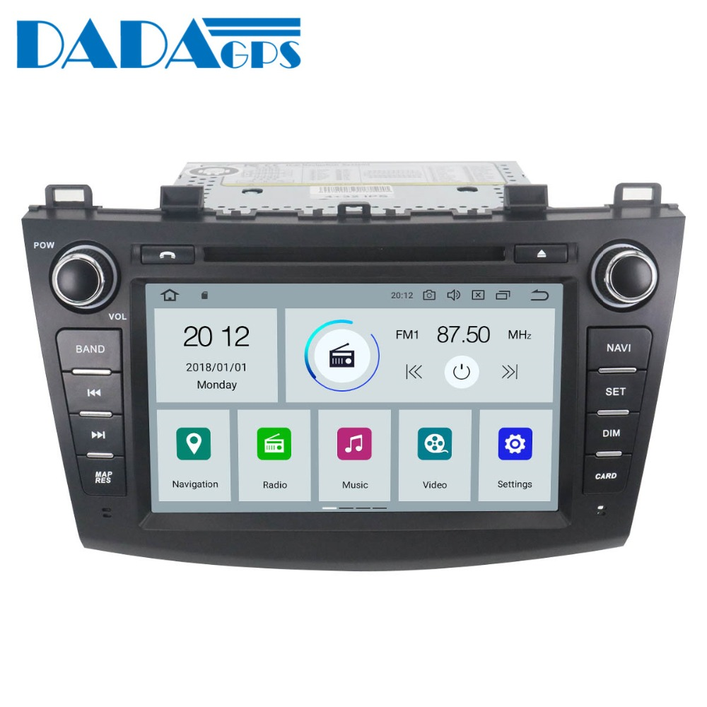 Newest Android 9.0 with 4+32GB Car Multimedia DVD Player Radio player For <font><b>Mazda</b></font> <font><b>3</b></font> Axela 2009 2010 2011 2012 <font><b>GPS</b></font> <font><b>Map</b></font> Navigation image