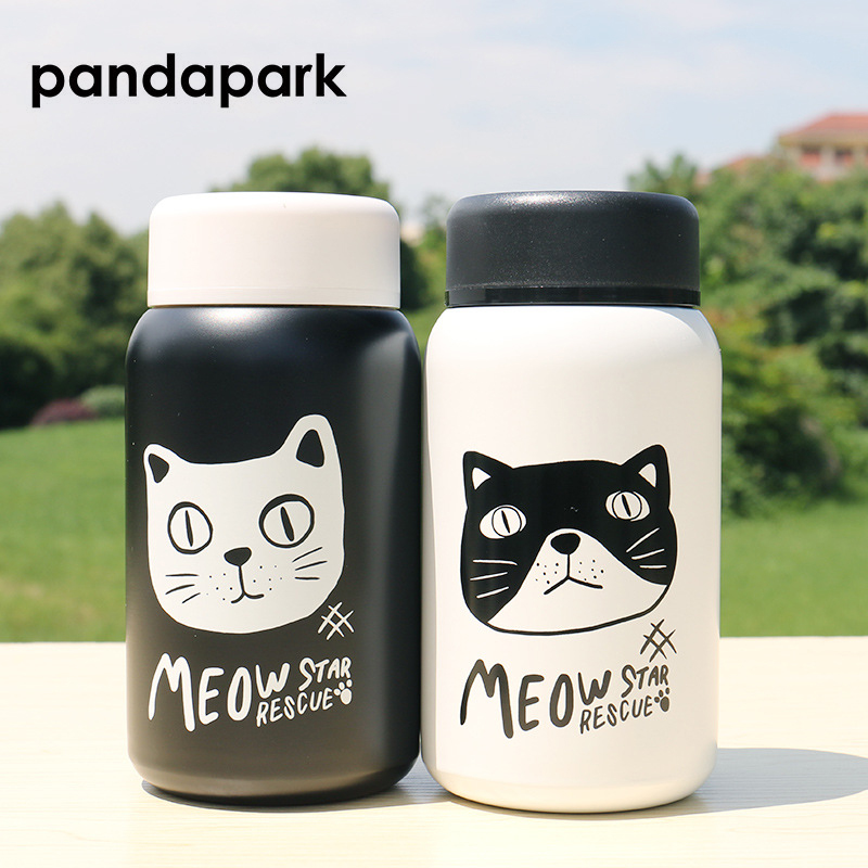 Pandapark Cat Thermos Cup Cartoon Stainless Steel Car Vacuum Flask Office Mug Vehicle Bottle Thermoses Christmas Gift PPX005Pandapark Cat Thermos Cup Cartoon Stainless Steel Car Vacuum Flask Office Mug Vehicle Bottle Thermoses Christmas Gift PPX005