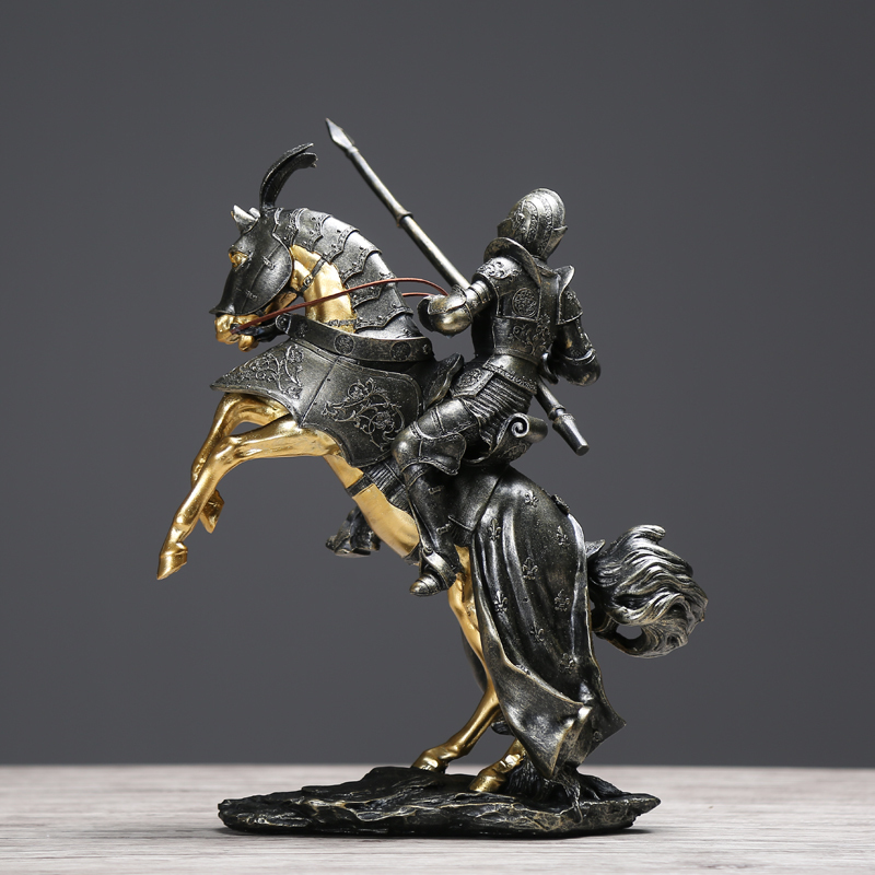 Creative Knight Home Decor Living Room TV Cabinet Decoration Accessories Crafts Furnishings In Figurines Miniatures From Garden On Aliexpress