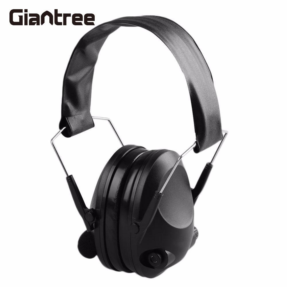 Giantree Ear Protector Impact Electronic Earmuff Anti-Noise Earmuffs Fold Ear Hearing Earmuffs Outdoor Hunting Shooting Earmuff 3m h6p3e cap mount earmuffs hearing conservation h6p3e ultra light with liquid foam filled earmuff cushions e111